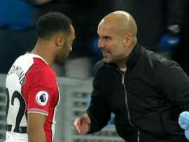 Guardiola shouted at Redmond after City's 2-1 win over Southampton. Captura/ESPN