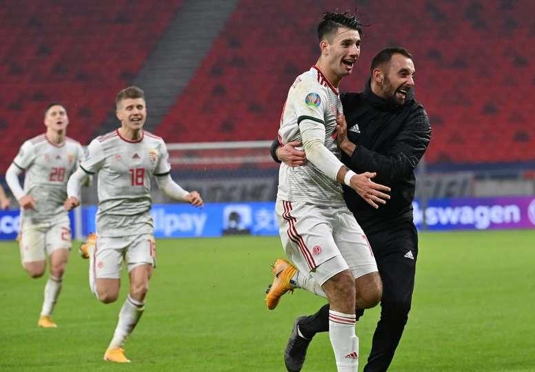Szoboszlai metió a Hungría en la Eurocopa con un golazo. EFE