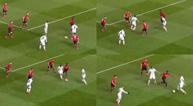 Mbappé y Di María volvieron locos al United. Twitter/ChampionsLeague