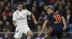 Zidane rassure Reguilón. AFP