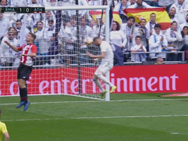Otro gol de cabeza de Benzema. Captura/BeINSports