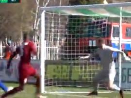 Gafar colocó el empate. Captura/BelarusianPL