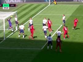 Wijnaldum a donné l'avantage à Liverpool. Capture/Movistar +