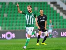 O internacional bielorrusso foi treinado por Pedro Martins, na sua passagem pelo Rio Ave. Twitter