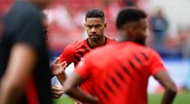 Renan Lodi will make his CL debut against Juventus. AFP