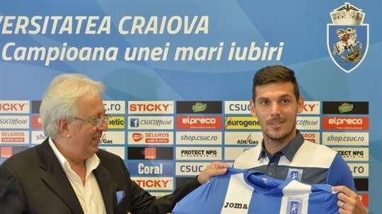 Renato Kelic ya presume de nuevo equipo. UniversitateaCraiova