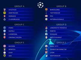 I risultati del sorteggio della Champions League. AFP