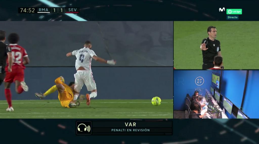 El penalti a Benzema que no valió