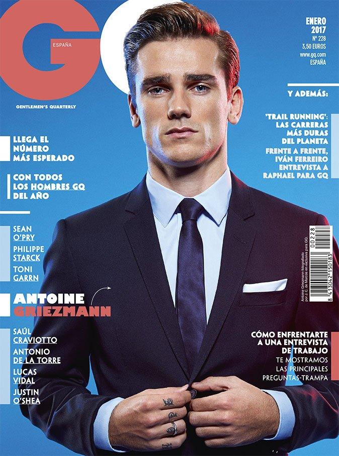 Griezmann modeling for GQ Spain. GQEspaña