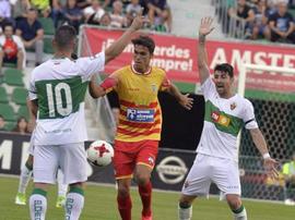 El Elche se verá las caras con el Murcia en el partido de vuelta. AFP