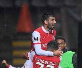 O Sp. Braga bateu o Desp. Aves por 2-0. Twitter/SCB