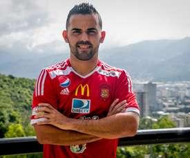 Martins ya posó con su nueva camiseta. CaracasFutbolClub