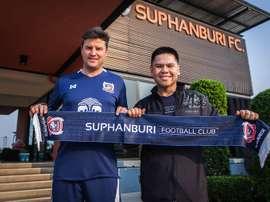 Ricardo Rodríguez llegó al Suphanburi el pasado mes de marzo. SuphanburiFootballClub