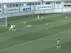 El conjunto chipriota encajó un 'hat trick' en 10 minutos. Captura/ArenaSport3