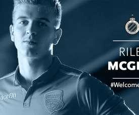 Riley McGree, nuevo jugador del Brujas. ClubBrugge