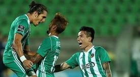Festejos do jogadores, depois do terceiro gol.Twitter/LigaNOS