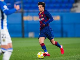 El Barça B de Riqui Puig solo sumó un punto. FCBarcelonaB