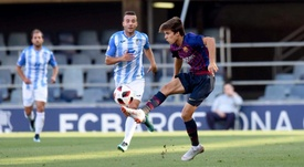 El Barcelona B no pasó del empate. Twitter/FCBarcelonaB