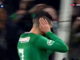 Boudebouz qualifie les Verts et provoque l'explosion du Chaudron. Capture/Eurosport