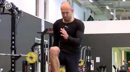 Robben em excelente forma. Twitter/FCGroningen