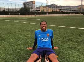 Robert Gonçalves treinou no Barcelona por 5 meses. Twitter
