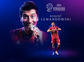 Lewandowski has been named the best forward. UEFA