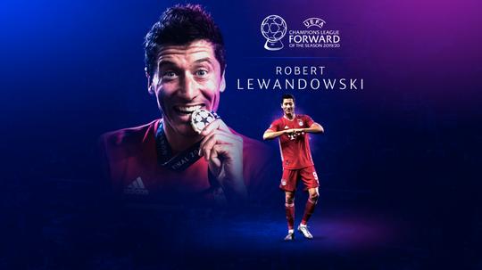 Lewandowski has been named the best forward. UEFA