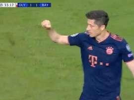 Imparable Lewandowski : 18 buts en 13 matches. Capture/Movistar