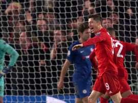 Lewandowski : deux passes décisives et un but pour prendre de l'avance sur Haaland. Twitter/Movistar