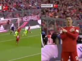 Lewandowski helped Bayern get off the mark and maybe towards three more points. Captura/beINSports