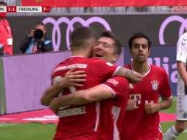 Lewandowski broke another goal scoring record in Germany. Captura/#Vamos
