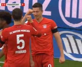 27ème but en 27 journées pour Lewandowski. Capture/Vamos