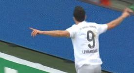 Lewandowski is in unbelievable form this season. Captura/Movistar+