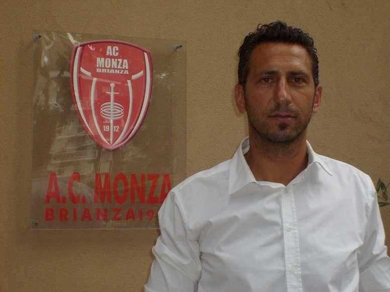 Roberto Cevoli, durante su presentación como entrenador del Monza. ACMonza