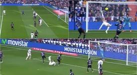 Ronaldo tried a bicycle kick in 2014. Captura/LaLiga