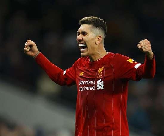 Firmino é só alegria. LiverpoolFC