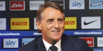 Roberto Mancini, entrenador del Inter de Milán. Twitter