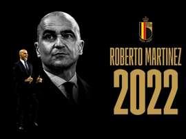 Roberto Martínez renovou como treinador da Bélgica até 2022. Twitter/BelgianRedDevils