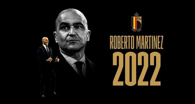El español firmó hasta 2022. Twitter/BelgianRedDevils