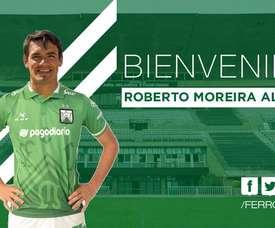 El paraguayo ya luce la camiseta de los verdes. FerroCarrilOeste