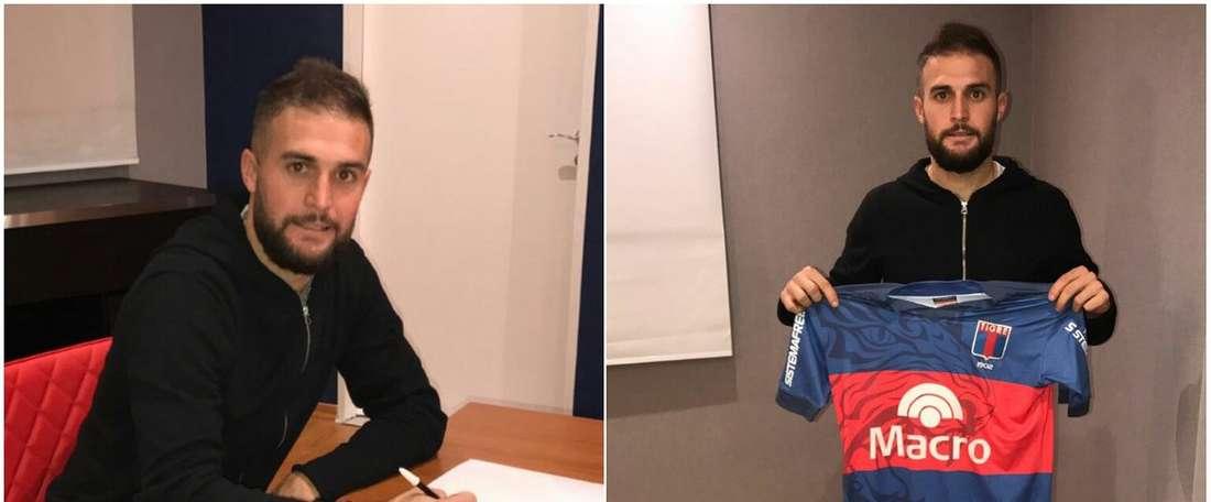 Depetris firma contrato por un año con Atlético Tigre. Catigreoficial