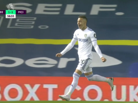 Rodrigo scored for Leeds. Screenshot/DAZN