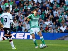 Edgar Gonzalez a fait sa première apparition en Liga. Twitter/RealBetis