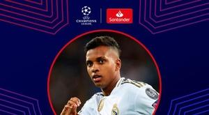 Rodrygo, joueur de la semaine en Ligue des Champions. Twitter/UEFAChampionsLeague