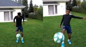 Rodrygo le dio un balonazo a la cámara. Capturas/Instagram/rodrygogoes