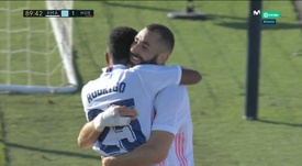 Benzema made it 4-1. Screenshot/MovistarLaLiga