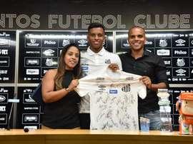 Rodrygo a fait ses adieux en conférence de presse. SantosFC