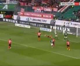 Siete minutos para marcar en tu debut en la Bundesliga. Captura/SkySports