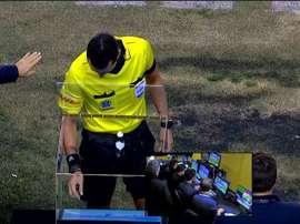 El técnico de Deportivo Morón se refirió al error del árbitro. Captura