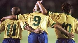 Os maiores artilheiros da seleçao brasileira. AFP/Archivo